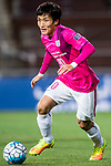 Kitchee Defender Kim Bongjin in action during their AFC Champions League 2017 Playoff Stage match between Ulsan Hyundai FC (KOR) vs Kitchee SC (HKG) at the Ulsan Munsu Football Stadium on 07 February 2017 in Ulsan, South Korea. Photo by Chung Yan Man / Power Sport Images