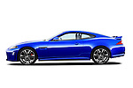 Driver side profile view of a 2012 Jaguar XKR-S Coupe.
