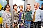 Angela Curran, Patricia Barrett, Kay Spillane, Juliette Culloty and Pat Doolan, all Killarney, pictured at the opening of the new 15 bed in-patient PalliatIve Care Unit at University Hospital Kerry Hospice on Friday last.