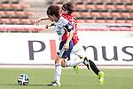 (L to R) <br /> Aya Miyama (Belle), <br /> Nozomi Fujita (Reds), <br /> MAY 4, 2014 - Football /Soccer : <br /> Plenus Nadeshiko League 2014 <br /> between Urawa Reds Ladies 1-3 Okayama Yunogo Belle <br /> at Saitama Urawa Komaba Stadium, Saitama, Japan. <br /> (Photo by AFLO SPORT) [1205]