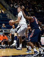Robert Thurman of California rebounds the ball during the game against Pepperdine at Haas Pavilion in Berkeley, California on November 13th, 2012.  California defeated Pepperdine, 79-62.