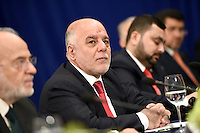 Prime Minister Haider al-Abadi of Iraq attends a bilateral meeting with United States President Barack Obama at the Lotte New York Palace Hotel in New York, NY, on September 19, 2016. <br /> Credit: Anthony Behar / Pool via CNP /MediaPunch