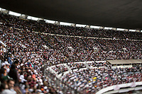 June 27, 2018: Supporters of Andres Manuel Lopez Obrador, an opposition candidate of MORENA party running for presidency (not-pictured), attend his closing campaign rally at the Azteca stadium, the country's largest soccer stadium, in Mexico City, Mexico. National elections will be hold on July 1.