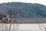 COLEBROOK, CT. 31 December 2018-123118 - Fire and emergency crews respond to the access road on the Colebrook River Lake Dam of reports of a missing person in Colebrook on Monday. CT State Police and Fire Departments from Colebrook, Barkhamsted, Winsted, and Tolland, MA as well were helping assist in the search of the missing person. Bill Shettle Republican-American