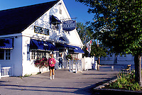 New Hampshire, Wolfeboro, NH, PJ's Dockside Restaurant on Lake Winnipesaukee in Wolfeboro one of the oldest summer resorts in America.