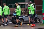 08.09.2017, Weserstadion, Bremen, GER, 1.FBL, Training SV Werder Bremen<br /> <br /> im Bild<br /> <br /> Philipp Bargfrede (Werder Bremen #44) Maximilian Eggestein (Werder Bremen #35) Fin Bartels (Werder Bremen #22) Lamine San&eacute; / Sane (Werder Bremen #26)<br /> <br /> Foto &copy; nordphoto / Ewert