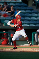 Altoona Curve left fielder Logan Hill (53) at bat during a game against the Richmond Flying Squirrels on May 15, 2018 at Peoples Natural Gas Field in Altoona, Pennsylvania.  Altoona defeated Richmond 5-1.  (Mike Janes/Four Seam Images)