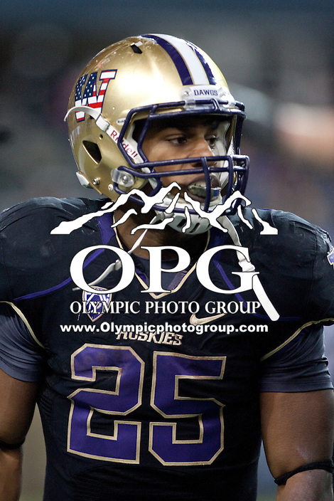 NOV 10, 2012:  Washington's Bishop Sankey against Utah.  Washington defeated Utah  34-15 at CenturyLink Field in Seattle, WA...