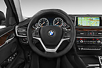 Car pictures of steering wheel view of a 2015 BMW X6 sDrive35i 5 Door SUV Steering Wheel