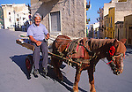 Man with horse and cart Castellamarre del Golfo, Sicily, Italy