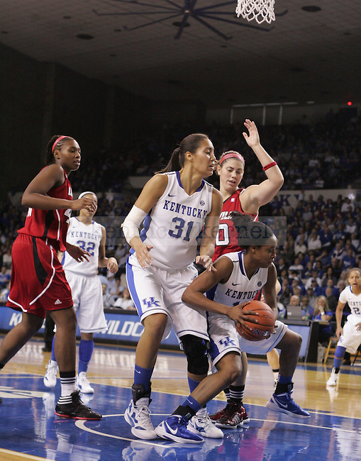 UK guard Bria Goss gets a rebound during the second half of the UK Women's basketball game against Louisville on 12/4/11 in Lexington, Ky. Photo by Quianna Lige | Staff