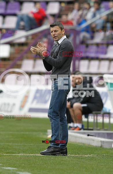 Miroslav Djukic, Real Valladolid V Malaga CF match of La Liga 2012/13. 09/03/2012. Victor Blanco/Alterphotos