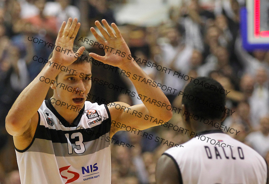 Kosarka Euroleague season 2013-2014<br /> Euroleague<br /> Partizan v Fenebahce Ulker<br /> Bogdan Bogdanovic (L) and Boris Dallo<br /> Beograd, 08.11.2013.<br /> foto: Srdjan Stevanovic/Starsportphoto &copy;