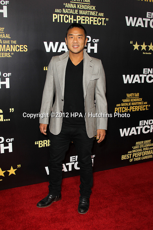 "LOS ANGELES - SEP 17:  Gene Hong arrives at the ""End Of Watch"" Premiere at Regal Cinemas L.A. Live on September 17, 2012 in Los Angeles, CA"