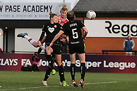 Leah Williamson of Arsenal scores the second goal for her team during Arsenal Women vs Bristol City Women, Barclays FA Women's Super League Football at Meadow Park on 1st December 2019