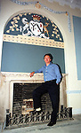 Lord Henry Mt. Charles with his freshly painted walls in Slane castle.Pic Fran Caffrey / Newsfile