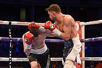 Harvey Horn (R) defeats Patrik Bartos during a Boxing Show at the Royal Albert Hall on 8th March 2019