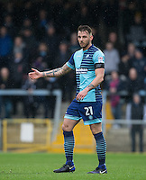 Max Muller of Wycombe Wanderers during the Sky Bet League 2 match between Wycombe Wanderers and Crawley Town at Adams Park, High Wycombe, England on 25 February 2017. Photo by Andy Rowland / PRiME Media Images.