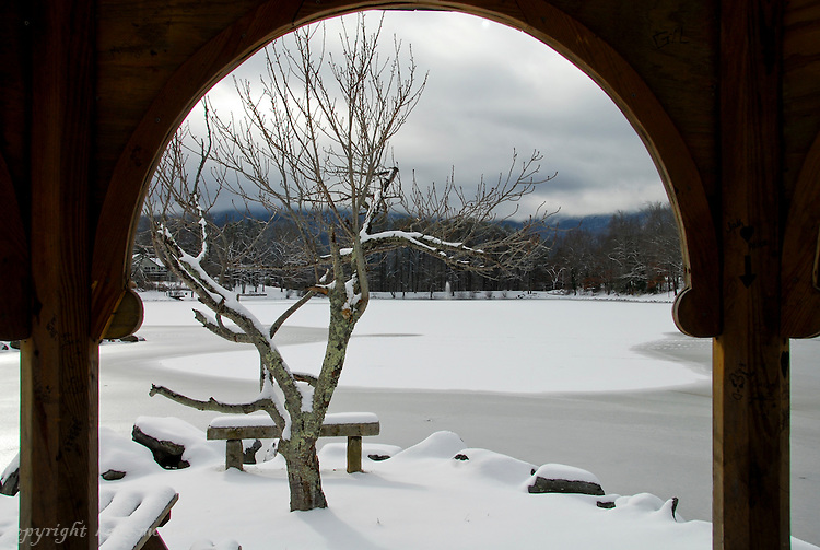 Winter Landscapes of Black Mountain, NC