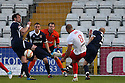 Dino Maamria shoots. Mitchell Cole Benefit Match - Lamex Stadium, Stevenage - 7th May, 2013. © Kevin Coleman 2013. ..