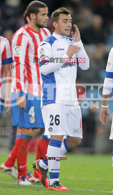 Getafe's Paco Alcacer during La Liga Match. November 11, 2012. (ALTERPHOTOS/Alvaro Hernandez) /NortePhoto