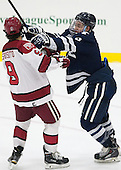 Luke Esposito (Harvard - 9), Carson Cooper (Yale - 9) - The visiting Yale University Bulldogs defeated the Harvard University Crimson 2-1 (EN) on Saturday, November 15, 2014, at Bright-Landry Hockey Center in Cambridge, Massachusetts.