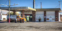 An old gas station on Route 66 in Ludlow California.