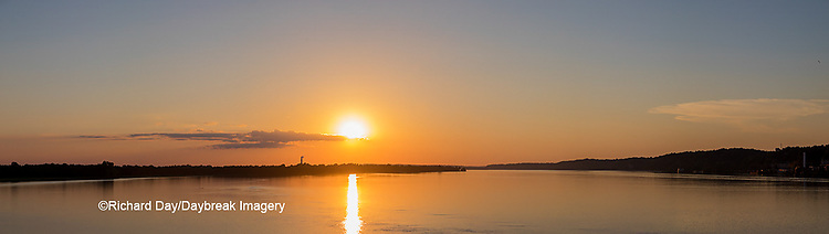 63895-15514 Sunset over Mississippi River Alton, IL
