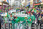 Killarney Celtic players marching the parade on Monday