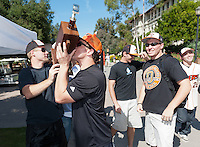 Occidental College students participate in the annual Homecoming Car Parade through the Quad, Oct. 28, 2011. (Photo by Marc Campos, Oxy College Photographer)