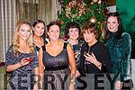 Staff from Bardley's Pharmacy Killarney enjoying their Christmas party in the Killarney Park Hotel on Saturday night l-r: Fiona Kelly, Moira Greer, Catherine Coffey, Joan Willims, Marian O'Sullivan, and Rebecca Willims