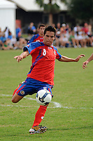 David Alberto Guzman (8) of Costa Rica. The US U-20 Men's National Team defeated the U-20 Men's National Team of Costa Rica 2-1 in an international friendly during day four of the US Soccer Development Academy  Spring Showcase in Sarasota, FL, on May 25, 2009.