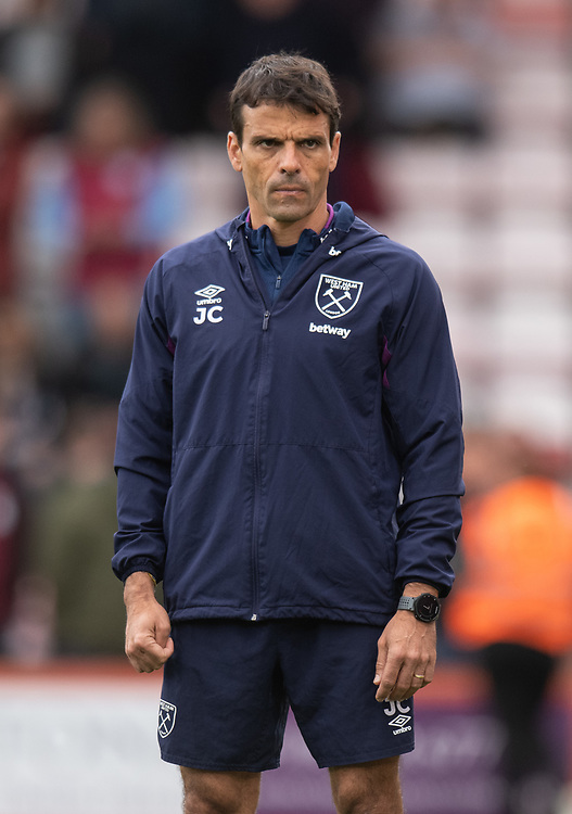 West Ham United Fitness coach Jose Cabello during the pre-match warm-up <br /> <br /> Photographer David Horton/CameraSport<br /> <br /> The Premier League - Bournemouth v West Ham United - Saturday 28th September 2019 - Vitality Stadium - Bournemouth<br /> <br /> World Copyright © 2019 CameraSport. All rights reserved. 43 Linden Ave. Countesthorpe. Leicester. England. LE8 5PG - Tel: +44 (0) 116 277 4147 - admin@camerasport.com - www.camerasport.com