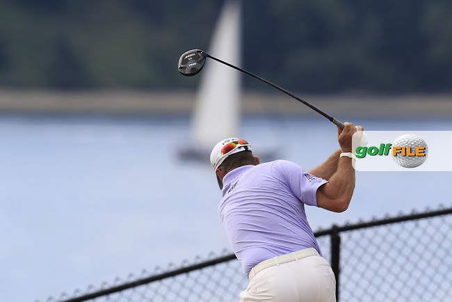 LEE WESTWOOD (ENG) tees off the 16th tee during Thursday's Round 1 of the 2015 U.S. Open 115th National Championship held at Chambers Bay, Seattle, Washington, USA. 6/18/2015.<br /> Picture: Golffile | Eoin Clarke<br /> <br /> <br /> <br /> <br /> All photo usage must carry mandatory copyright credit (&copy; Golffile | Eoin Clarke)