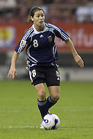 Argentina defender (8) Clarisa Huber. Germany (GER) defeated Argentina (ARG) 11-0 during an opening round Group A match of the FIFA Women's World Cup China 2007 at Shanghai Kongkou Football Stadium, Shanghai, China, on September 10, 2007.