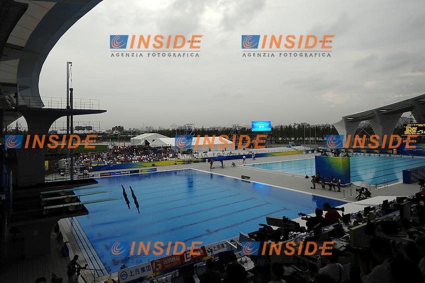 Panoramic view.Women's 3m Synchro Springboard - Tuffi Trampolino Sincronizzato.Shanghai 16/7/2011 .14th FINA World Championships.Foto Andrea Staccioli Insidefoto