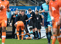 Gary Bowyer manager of Blackpool during the Sky Bet League 2 match between Wycombe Wanderers and Blackpool at Adams Park, High Wycombe, England on the 11th March 2017. Photo by Liam McAvoy.