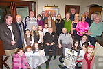 Fr. Martin Hegarty, seated left is joined by his friend Fr, Doran, from the Redemptrist order and parishioners at his golden jubilee celebrations in the Cliff House Hotel Ballybunion on Saturday night.   Copyright Kerry's Eye 2008