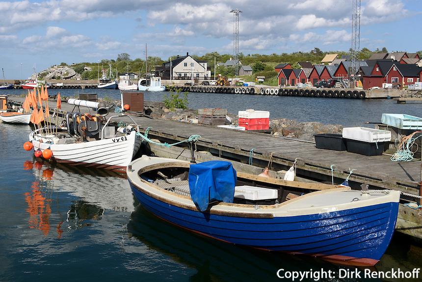 Hafen von Herrvik auf der Insel Gotland, Schweden, Europa<br /> port of Herrvik, Isle of Gotland Sweden