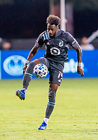 17th July 2020, Orlando, Florida, USA;  Minnesota United defender Romain Metanire (19) receive a pass during the MLS Is Back Tournament between the Real Salt Lake versus Minnesota United FC on July 17, 2020 at the ESPN Wide World of Sports, Orlando FL.