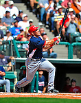 12 March 2009: Washington Nationals' catcher Luke Montz in action during a Spring Training game against the Atlanta Braves at Disney's Wide World of Sports in Orlando, Florida. The Braves defeated the Nationals 6-2 in the Grapefruit League matchup. Mandatory Photo Credit: Ed Wolfstein Photo