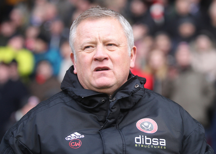 Sheffield United's Manager Chris Wilder<br /> <br /> Photographer Mick Walker/CameraSport<br /> <br /> The EFL Sky Bet Championship - Sheffield United v Bolton Wanderers - Saturday 2nd February 2019 - Bramall Lane - Sheffield<br /> <br /> World Copyright © 2019 CameraSport. All rights reserved. 43 Linden Ave. Countesthorpe. Leicester. England. LE8 5PG - Tel: +44 (0) 116 277 4147 - admin@camerasport.com - www.camerasport.com