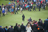 Kiradech Aphibarnrat (THA) head down as he advances to the 3rd green during the Final Round of the British Masters 2015 supported by SkySports played on the Marquess Course at Woburn Golf Club, Little Brickhill, Milton Keynes, England.  11/10/2015. Picture: Golffile | David Lloyd<br /> <br /> All photos usage must carry mandatory copyright credit (© Golffile | David Lloyd)