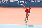 Makoto Ninomiya (JPN), <br /> AUGUST 22, 2018 - Tennis : <br /> Women's Doubles Round of 16<br /> at Jakabaring Sport Center Tennis Court <br /> during the 2018 Jakarta Palembang Asian Games <br /> in Palembang, Indonesia. <br /> (Photo by Yohei Osada/AFLO SPORT)
