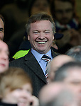 Craig Whyte makes his final appearance in the directors box at Ibrox before plunging the club into administration the following week