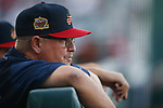 Reno Aces' Manger Chris Cron works a game against the Sacramento River Cats in Reno, Nev., on Thursday, July 4, 2019.<br /> Photo by Cathleen Allison/Nevada Momentum