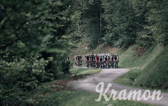 grupetto up the Mur de P&eacute;gu&egrave;re (Cat1/1375m/9.3km/7.9%)<br /> <br /> 104th Tour de France 2017<br /> Stage 13 - Saint-Girons &rsaquo; Foix (100km)