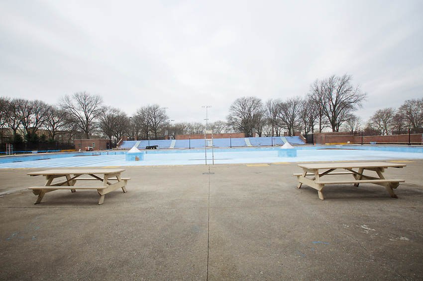 BROOKLYN, NY - JANUARY 15, 2016:  The pool in Sunset Park. The Sunset Park Play Center offers recreational activities including ping pong, a pool table, fitness equipment, classes and an after school program. During the summer, the center's pool draws kids and families all day.<br /> LOCATION: Sunset Park, between 5th and 7th Avenues from 41st to 44th Streets. <br /> CREDIT: Clay Williams for the New York Times.<br /> <br /> &copy; Clay Williams / claywilliamsphoto.com