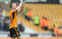 CELE - Wolverhampton Wanderers' Diogo Jota celebrates scoring the opening goal <br /> <br /> Photographer Ashley Crowden/CameraSport<br /> <br /> The EFL Sky Bet Championship - Wolverhampton Wanderers v Birmingham City - Sunday 15th April 2018 - Molineux - Wolverhampton<br /> <br /> World Copyright &copy; 2018 CameraSport. All rights reserved. 43 Linden Ave. Countesthorpe. Leicester. England. LE8 5PG - Tel: +44 (0) 116 277 4147 - admin@camerasport.com - www.camerasport.com