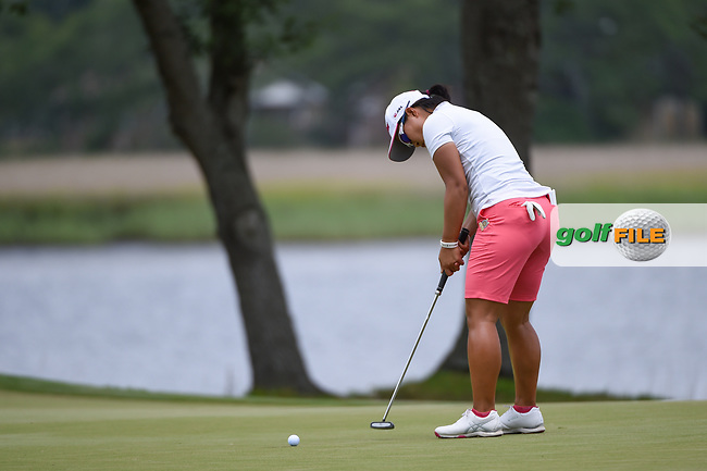 Nasa Hataoka (JPN) watches her putt on 10 during round 2 of the 2019 US Women's Open, Charleston Country Club, Charleston, South Carolina,  USA. 5/31/2019.<br /> Picture: Golffile | Ken Murray<br /> <br /> All photo usage must carry mandatory copyright credit (© Golffile | Ken Murray)